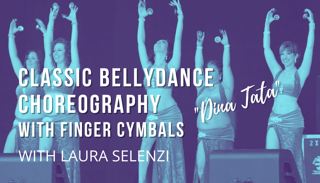 Bellydance choreography with finger cymbals